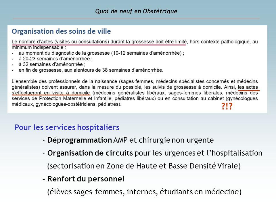 ! Pour les services hospitaliers