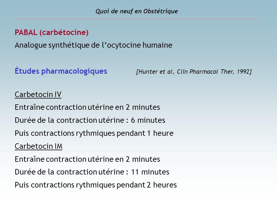 Analogue synthétique de l'ocytocine humaine