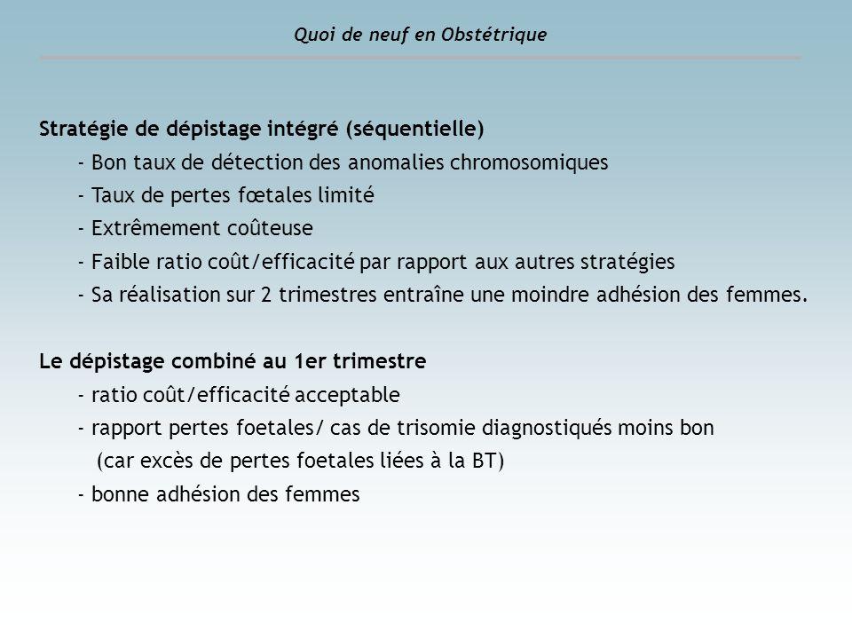 Stratégie de dépistage intégré (séquentielle)