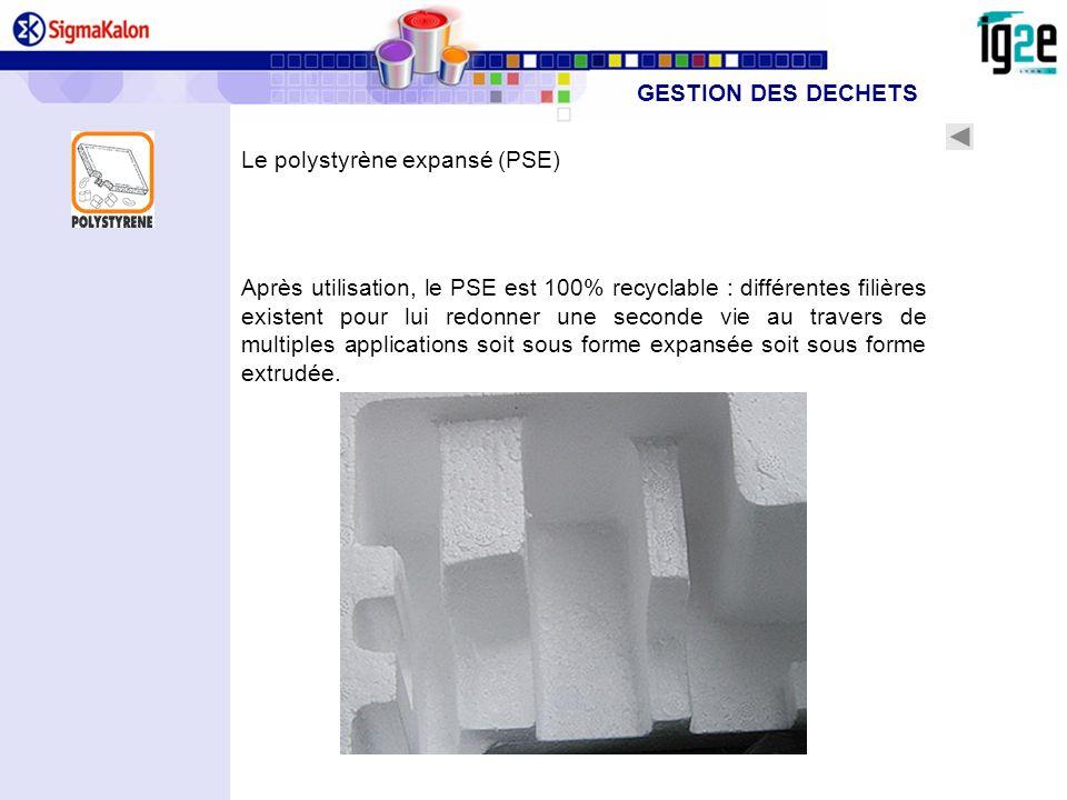 GESTION DES DECHETSLe polystyrène expansé (PSE)