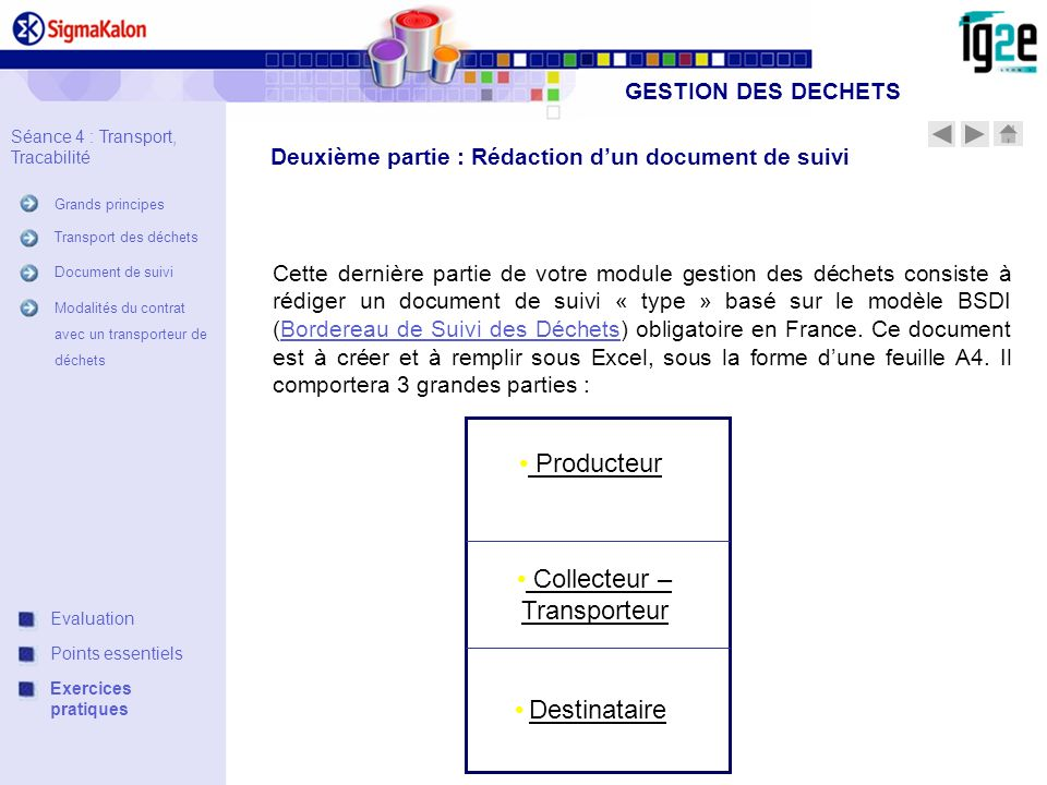 Collecteur – Transporteur