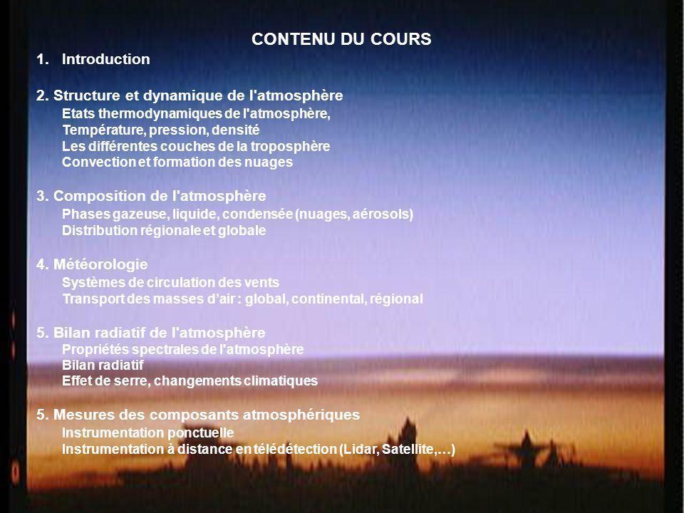 CONTENU DU COURS Introduction