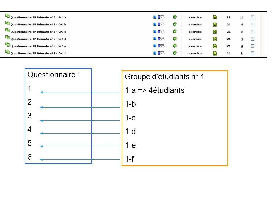 Titre Projet Questionnaire : Groupe d'étudiants n° 1 1