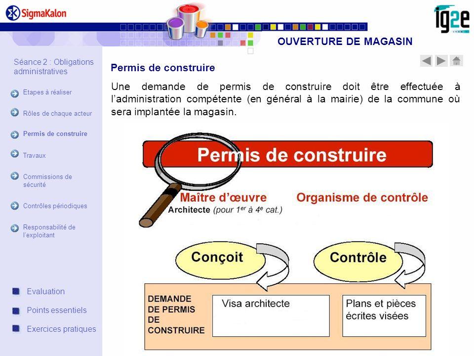 OUVERTURE DE MAGASIN Permis de construire