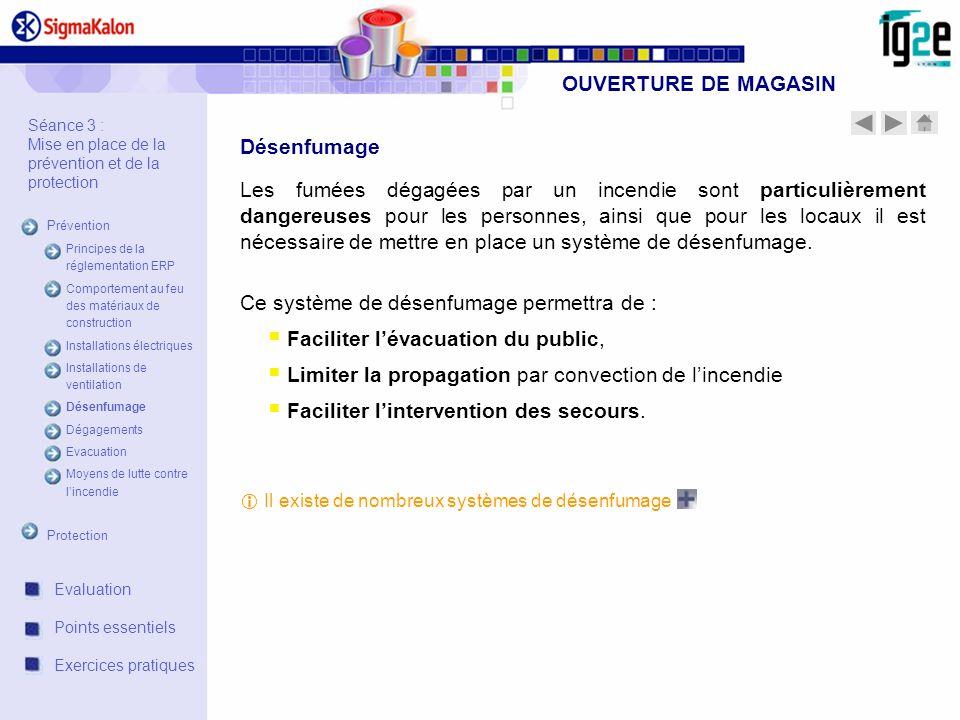 OUVERTURE DE MAGASIN Désenfumage