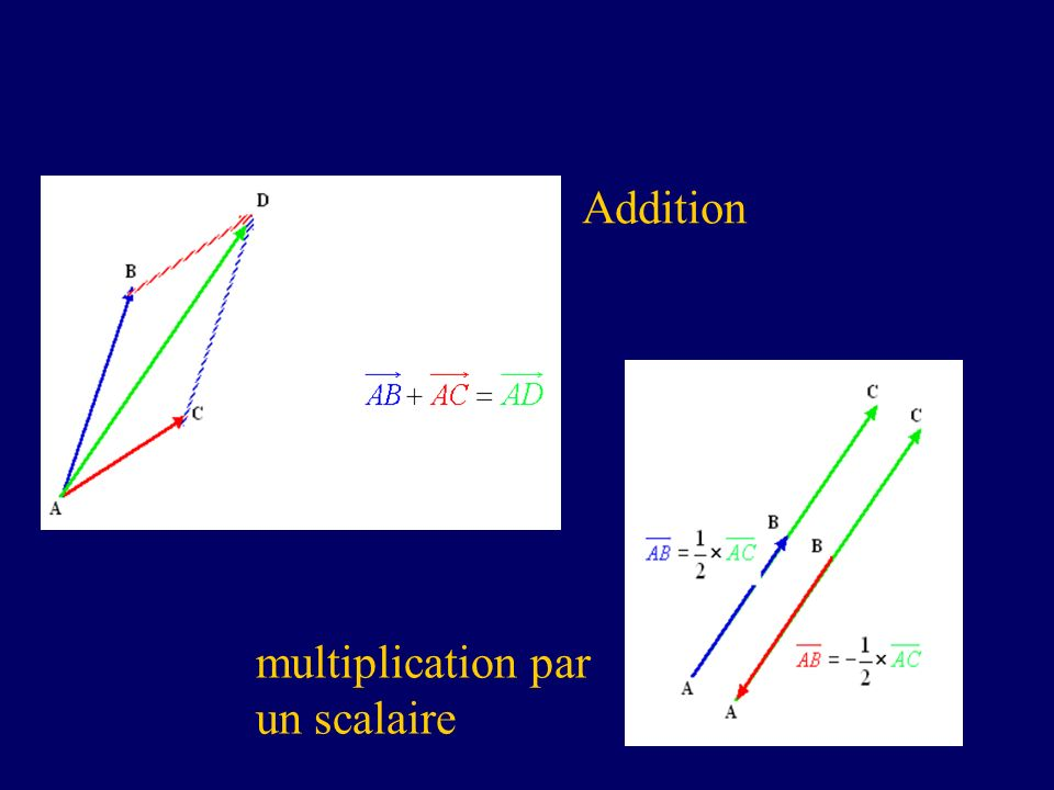 Addition multiplication par un scalaire