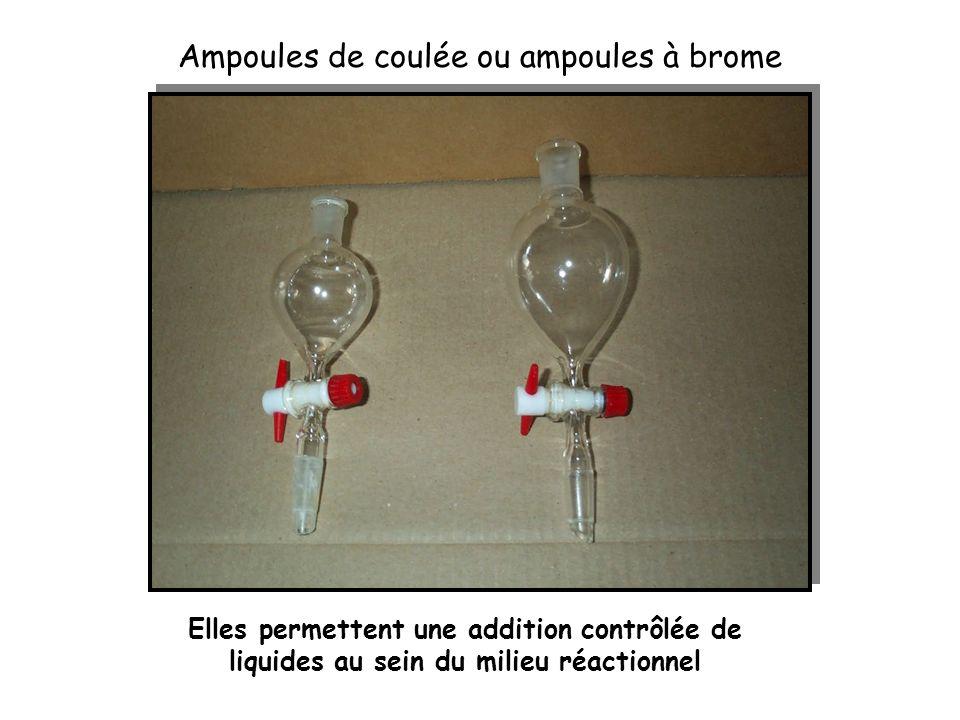 Ampoules de coulée ou ampoules à brome