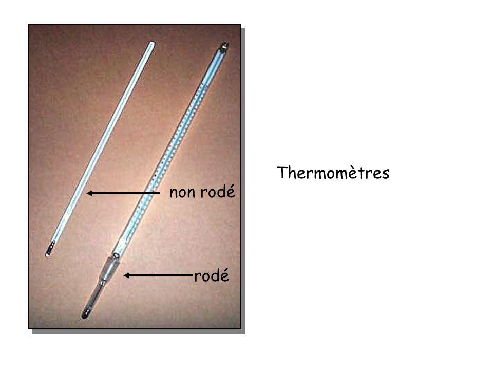 Thermomètres non rodé rodé