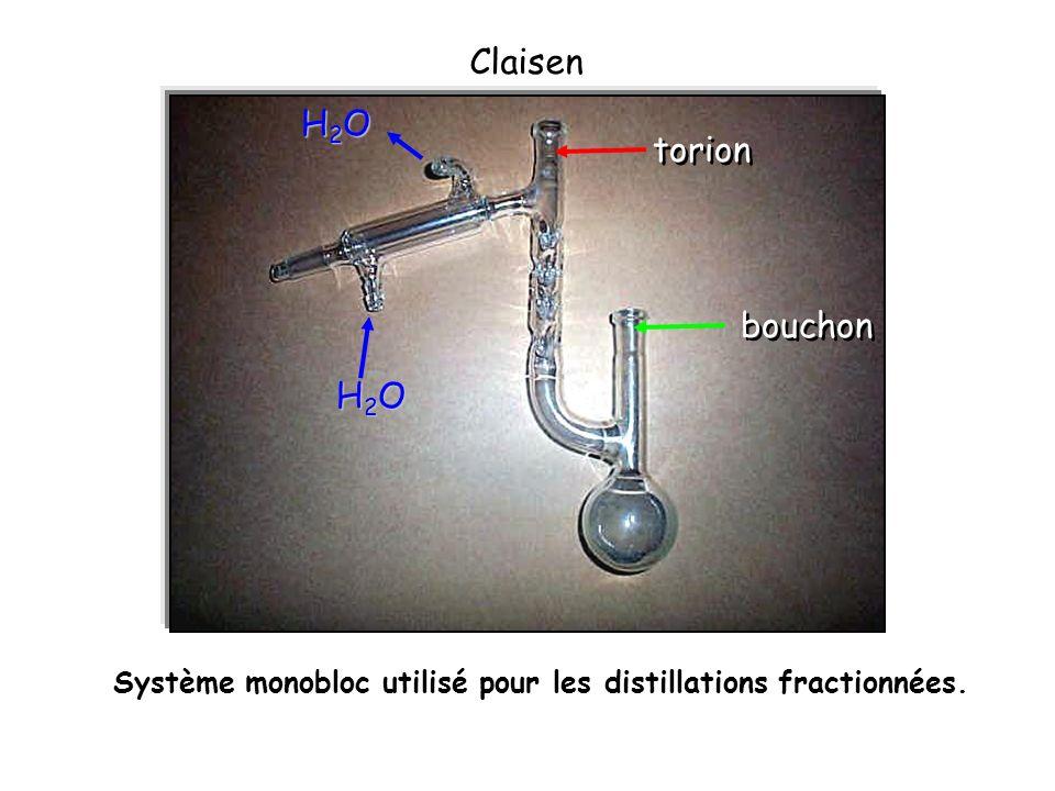 Claisen H2O torion bouchon H2O