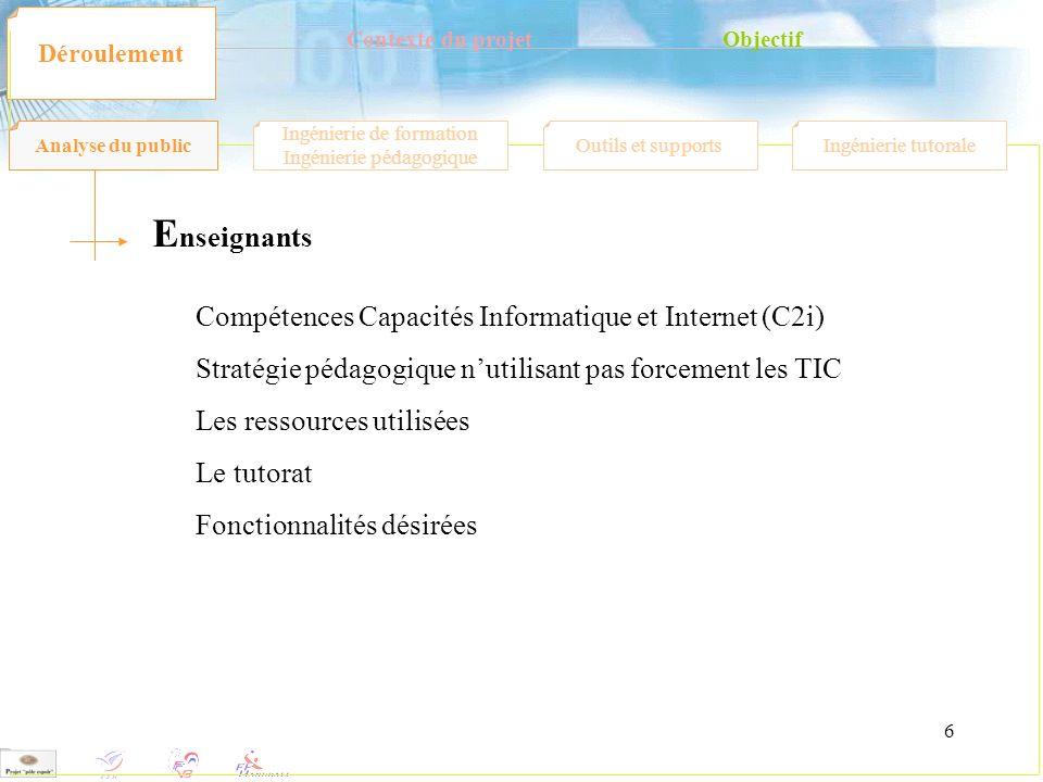 Enseignants Compétences Capacités Informatique et Internet (C2i)