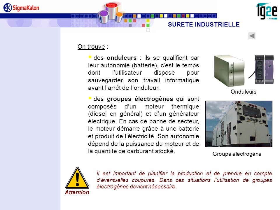 SURETE INDUSTRIELLE On trouve :