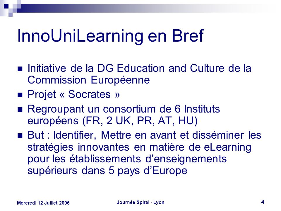 InnoUniLearning en Bref