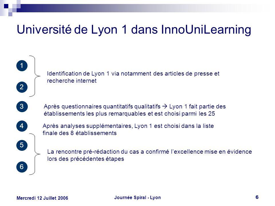 Université de Lyon 1 dans InnoUniLearning