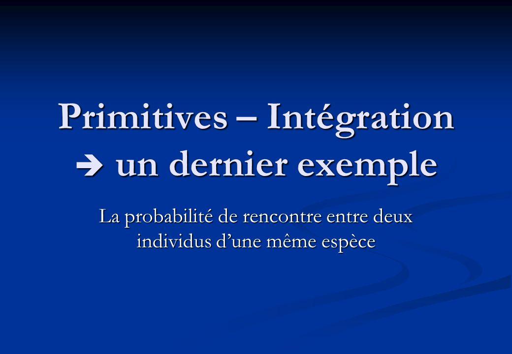 Primitives – Intégration  un dernier exemple