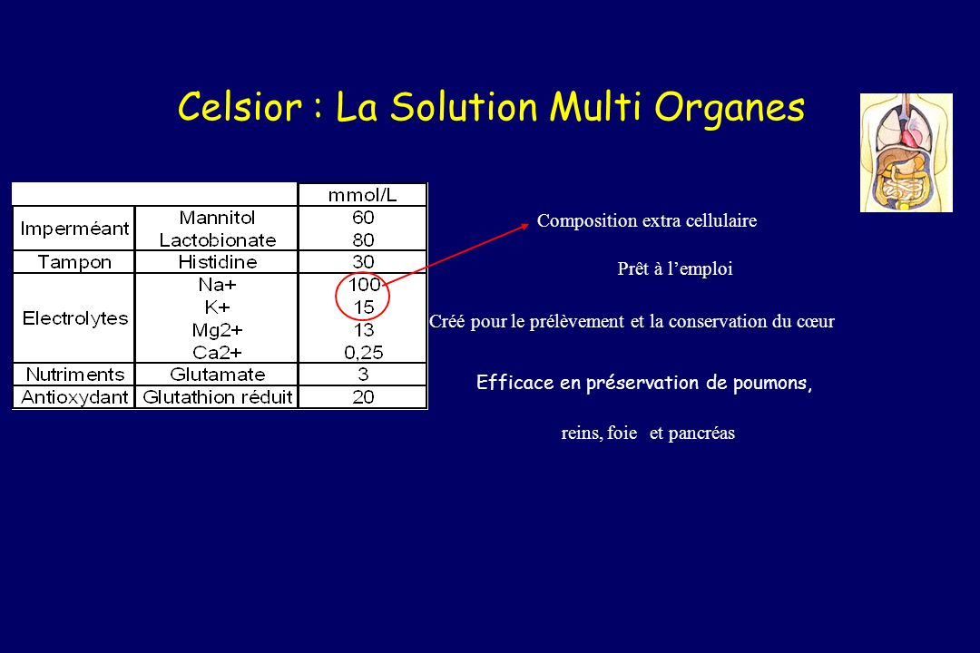 Celsior : La Solution Multi Organes
