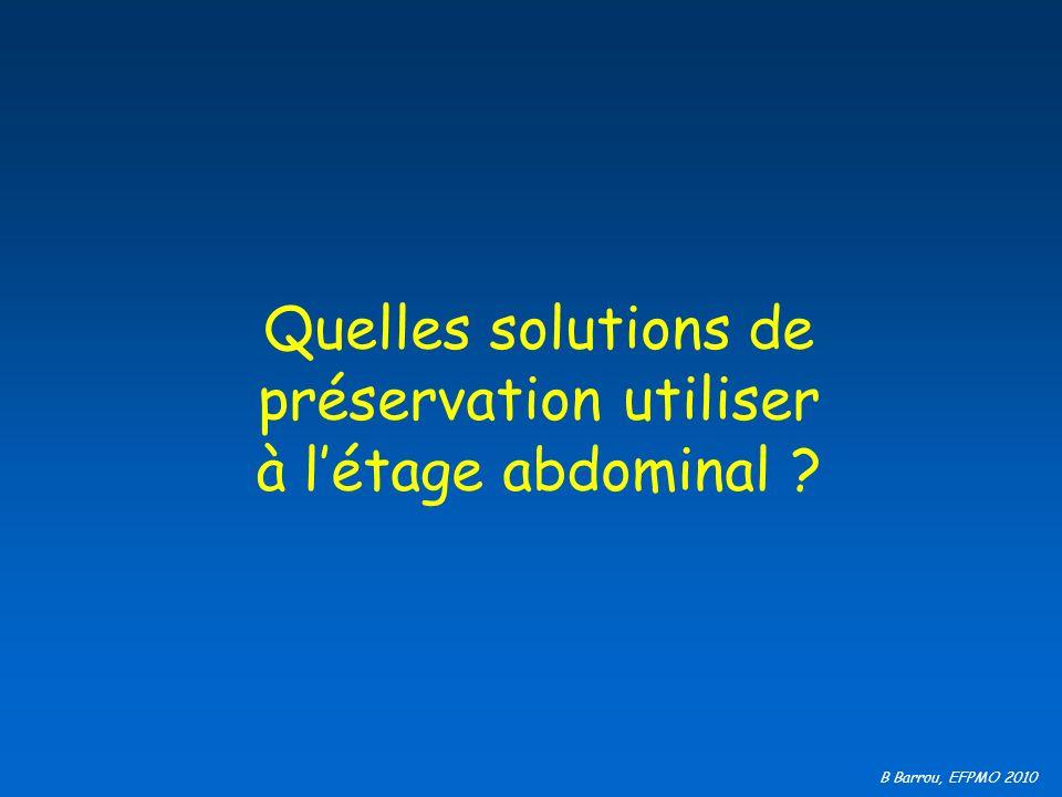 Quelles solutions de préservation utiliser à l'étage abdominal