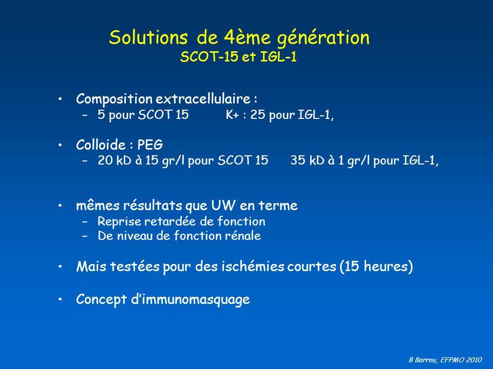 Solutions de 4ème génération SCOT-15 et IGL-1