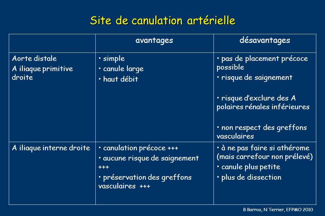 Site de canulation artérielle