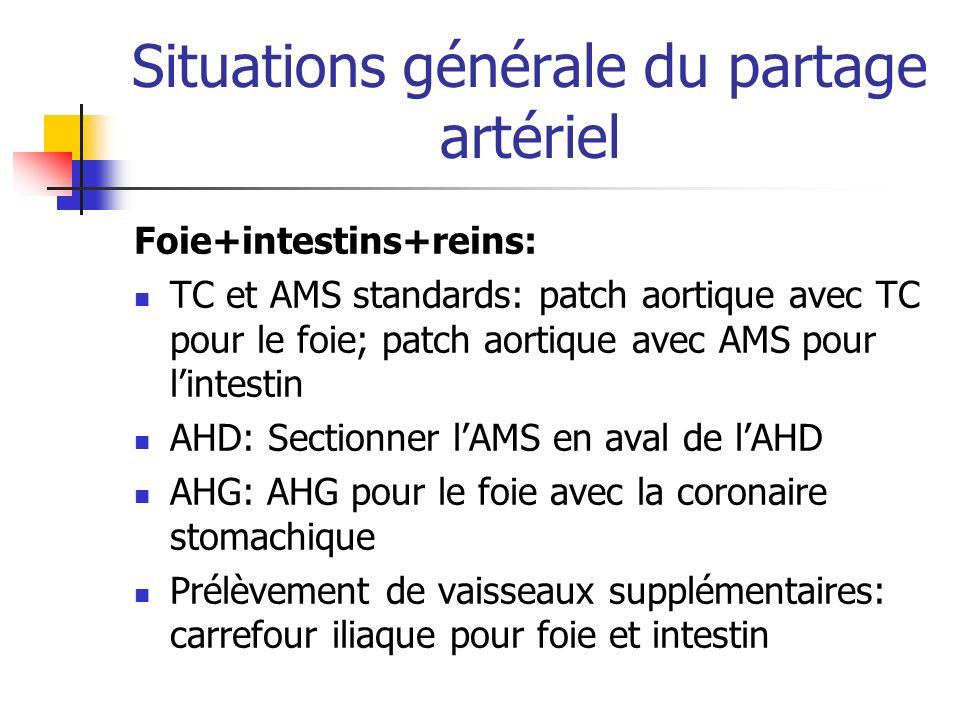Situations générale du partage artériel