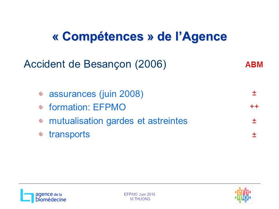« Compétences » de l'Agence