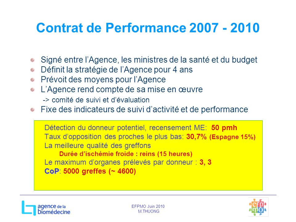 Contrat de Performance 2007 - 2010