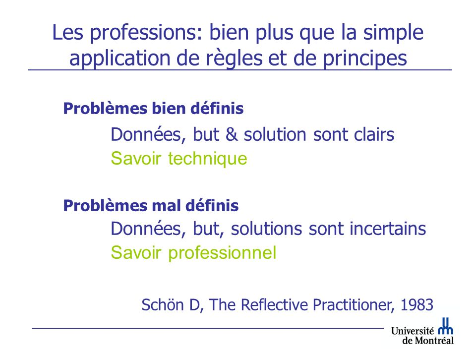 Les professions: bien plus que la simple application de règles et de principes