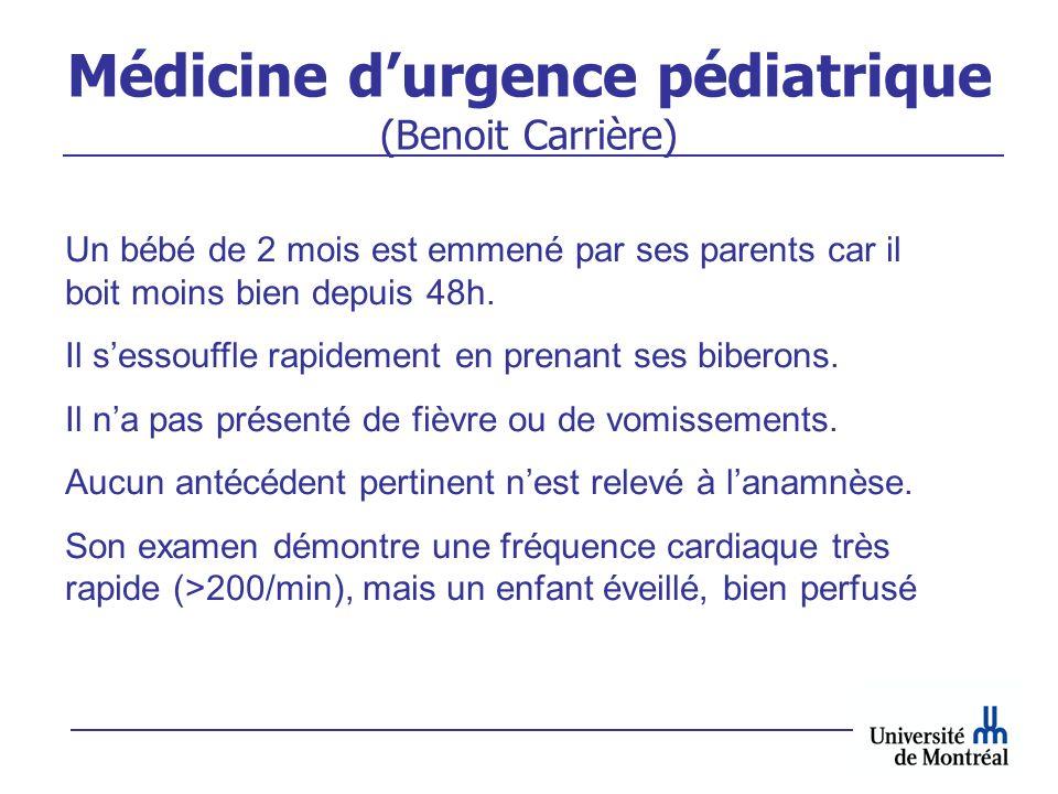 Médicine d'urgence pédiatrique (Benoit Carrière)