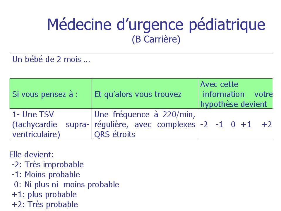 Médecine d'urgence pédiatrique (B Carrière)