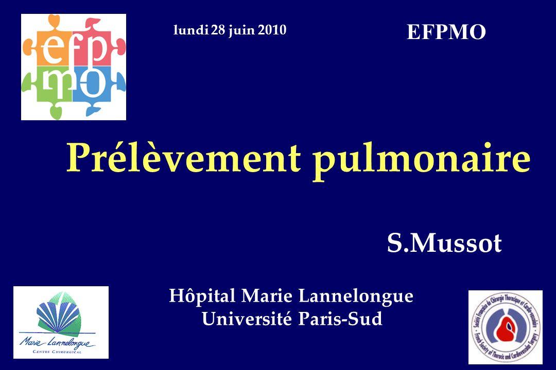 Prélèvement pulmonaire Hôpital Marie Lannelongue