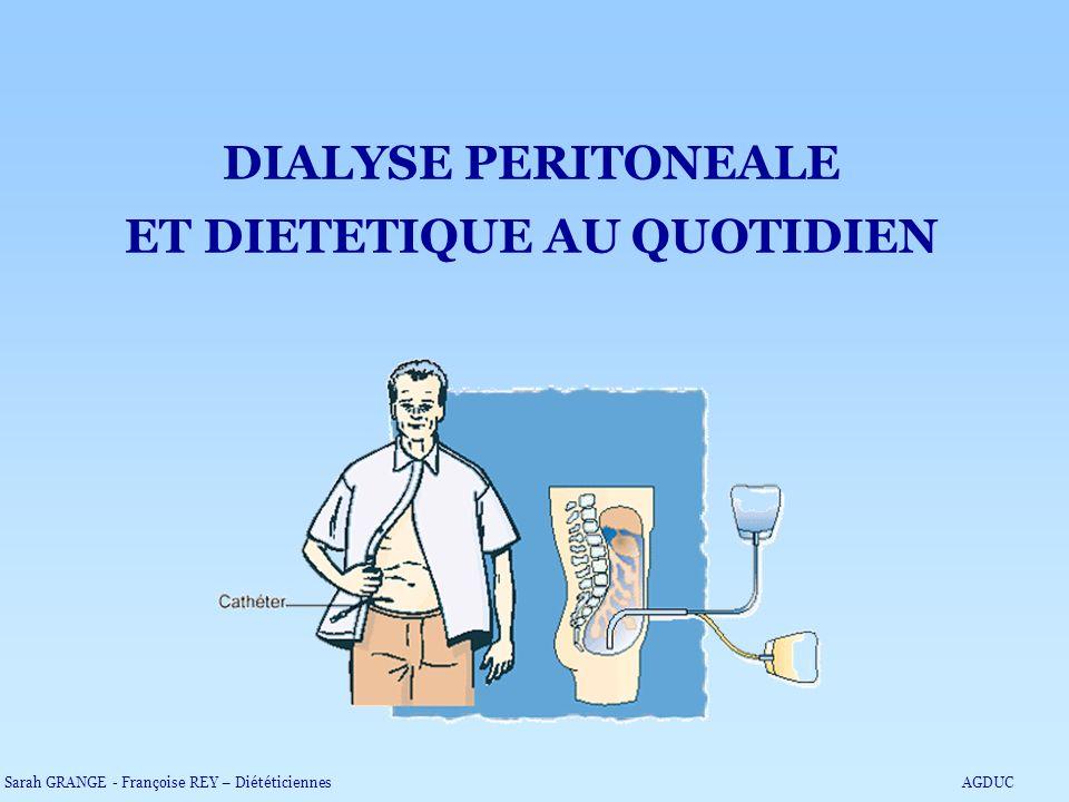 DIALYSE PERITONEALE ET DIETETIQUE AU QUOTIDIEN