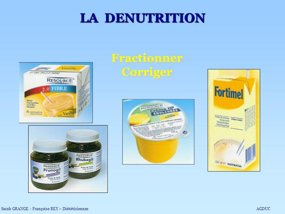 LA DENUTRITION Fractionner Corriger
