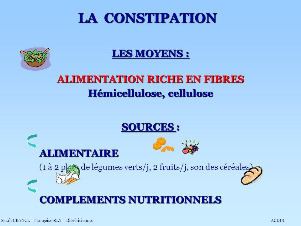 ALIMENTATION RICHE EN FIBRES Hémicellulose, cellulose