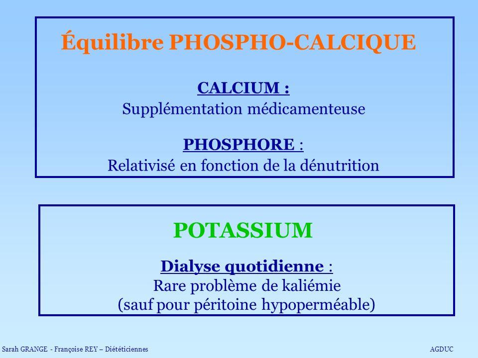 Équilibre PHOSPHO-CALCIQUE