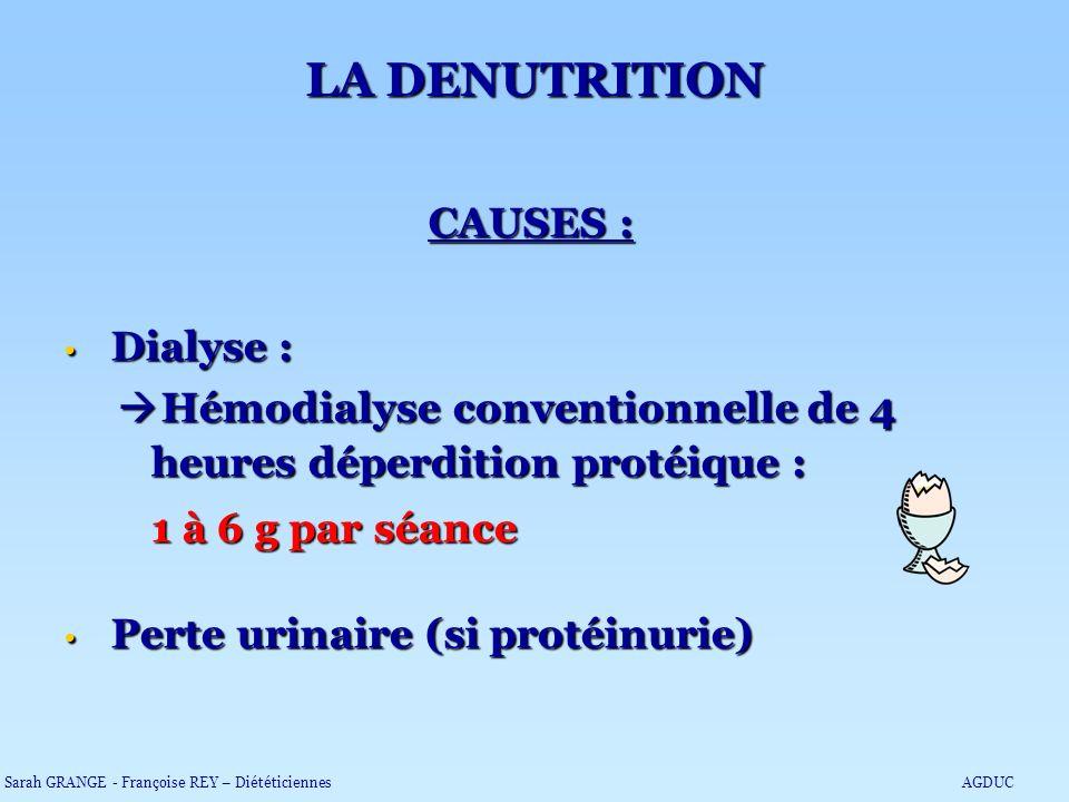 LA DENUTRITION CAUSES :