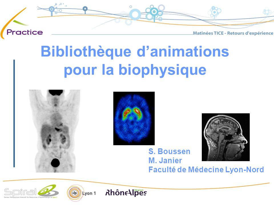 Bibliothèque d'animations pour la biophysique