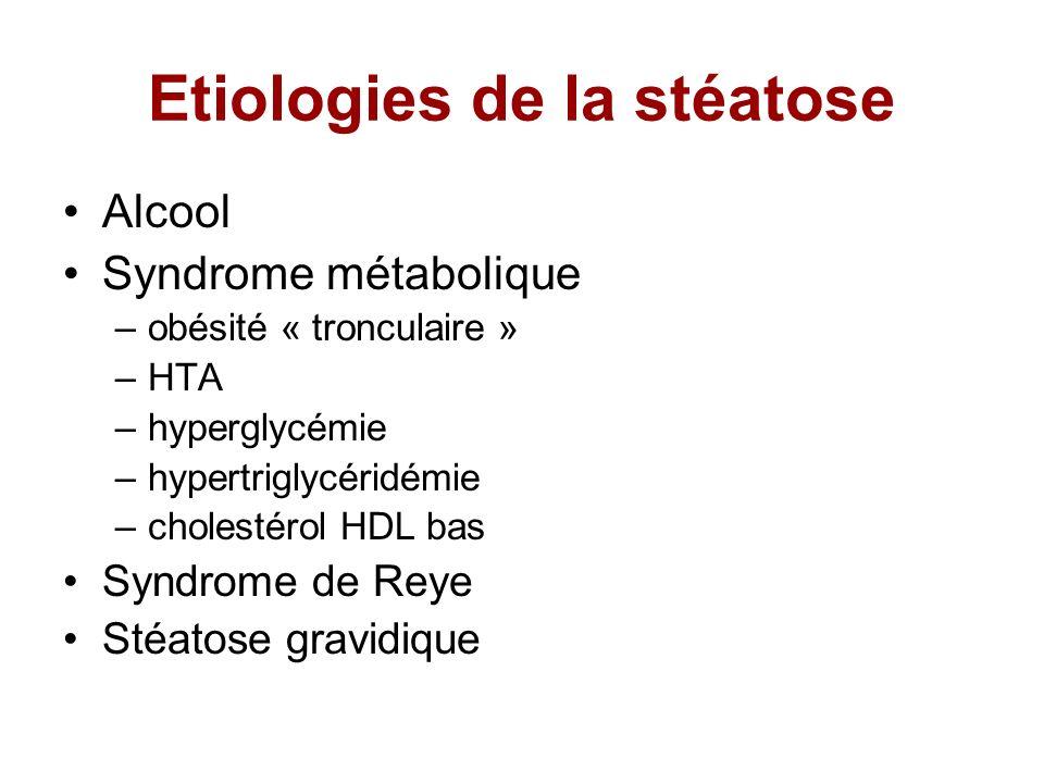Etiologies de la stéatose