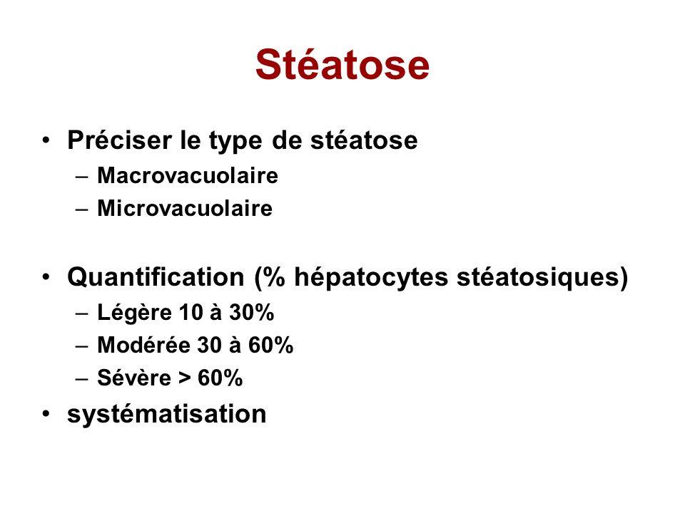 Stéatose Préciser le type de stéatose