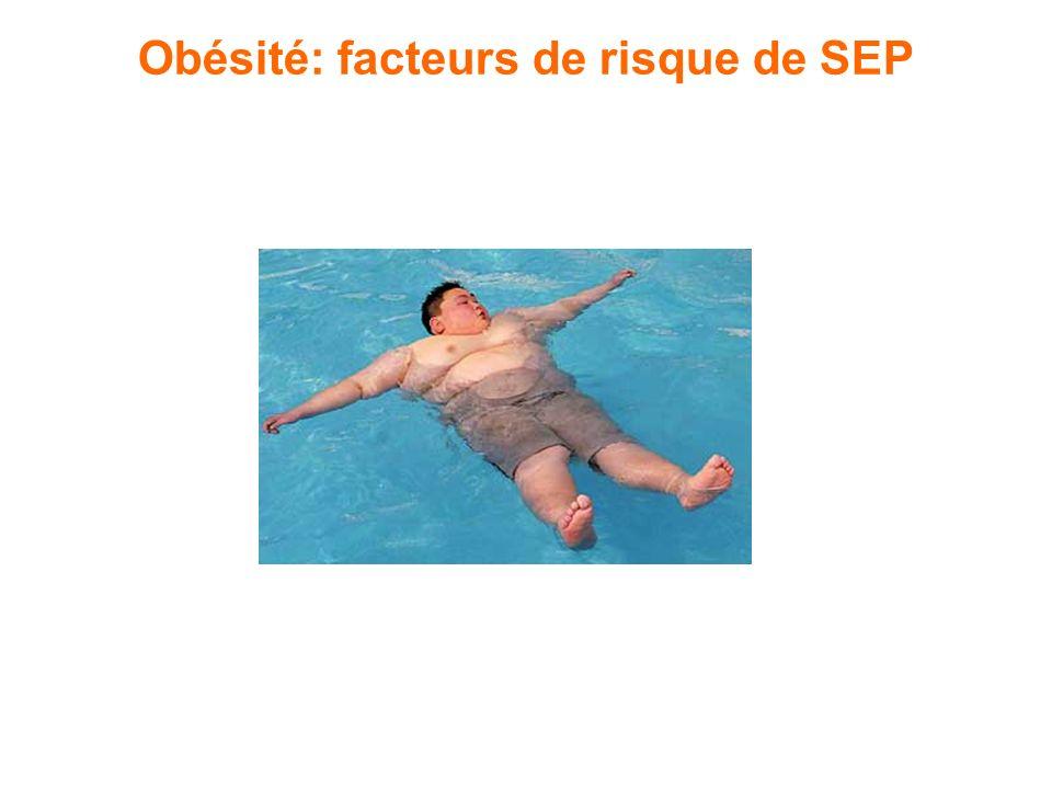 Obésité: facteurs de risque de SEP