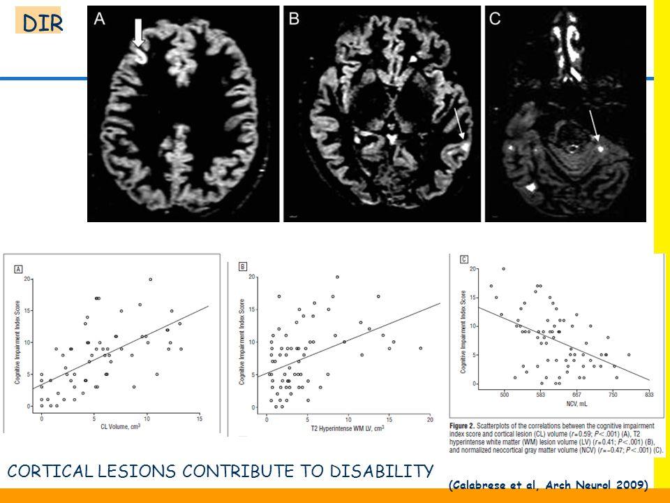(Calabrese et al, Arch Neurol 2009)