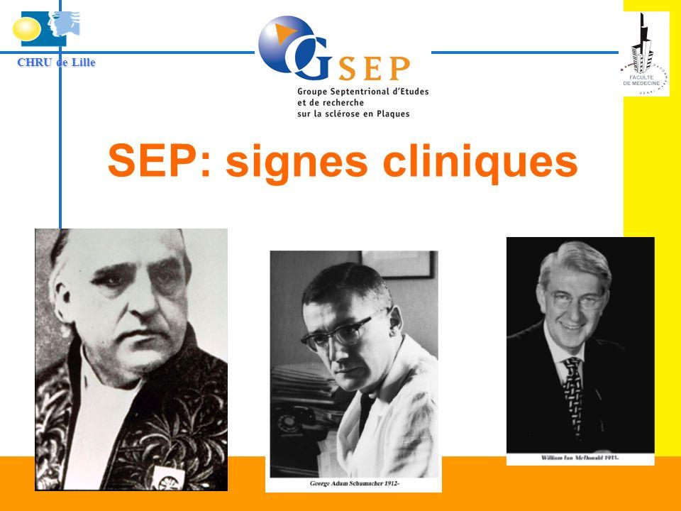 CHRU de Lille SEP: signes cliniques