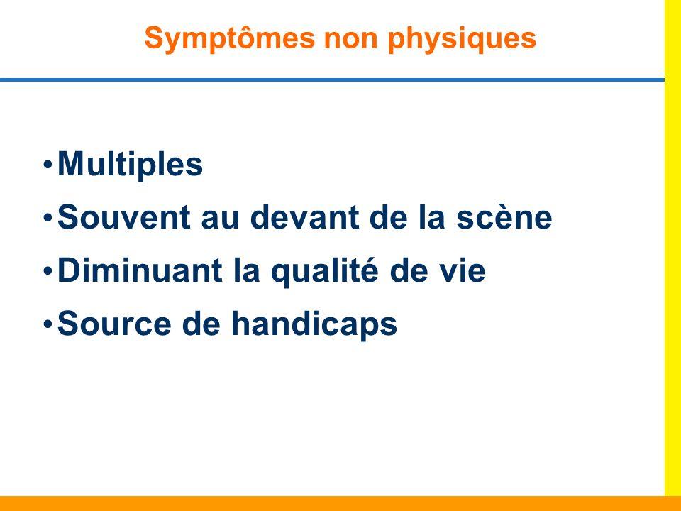 Symptômes non physiques