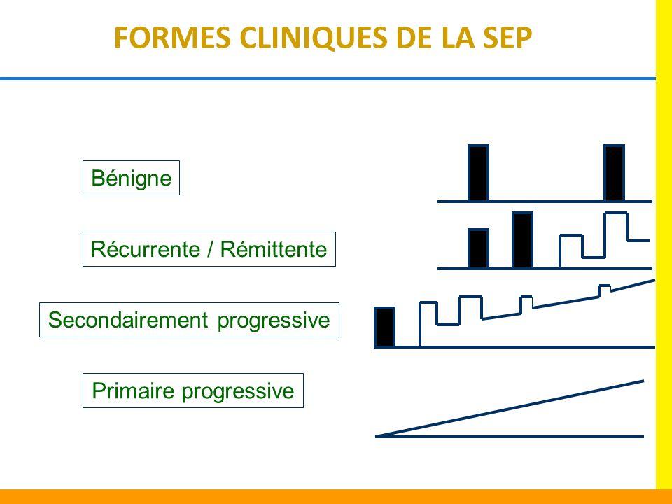 FORMES CLINIQUES DE LA SEP