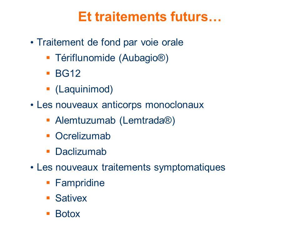 Et traitements futurs…