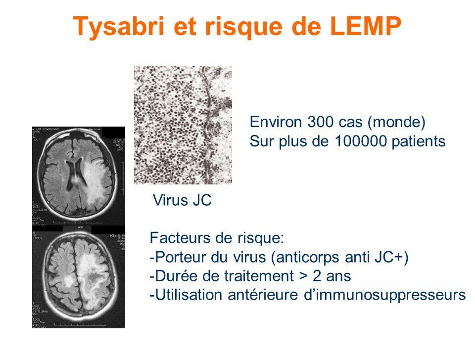 Tysabri et risque de LEMP