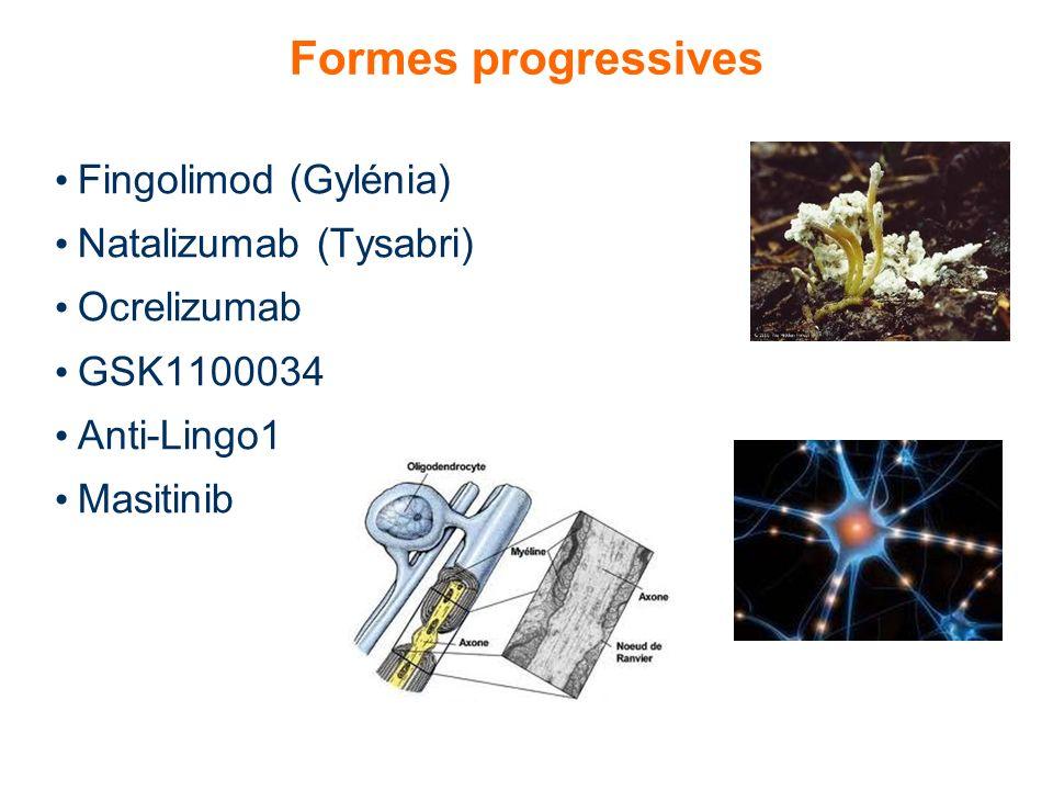 Formes progressives Fingolimod (Gylénia) Natalizumab (Tysabri)