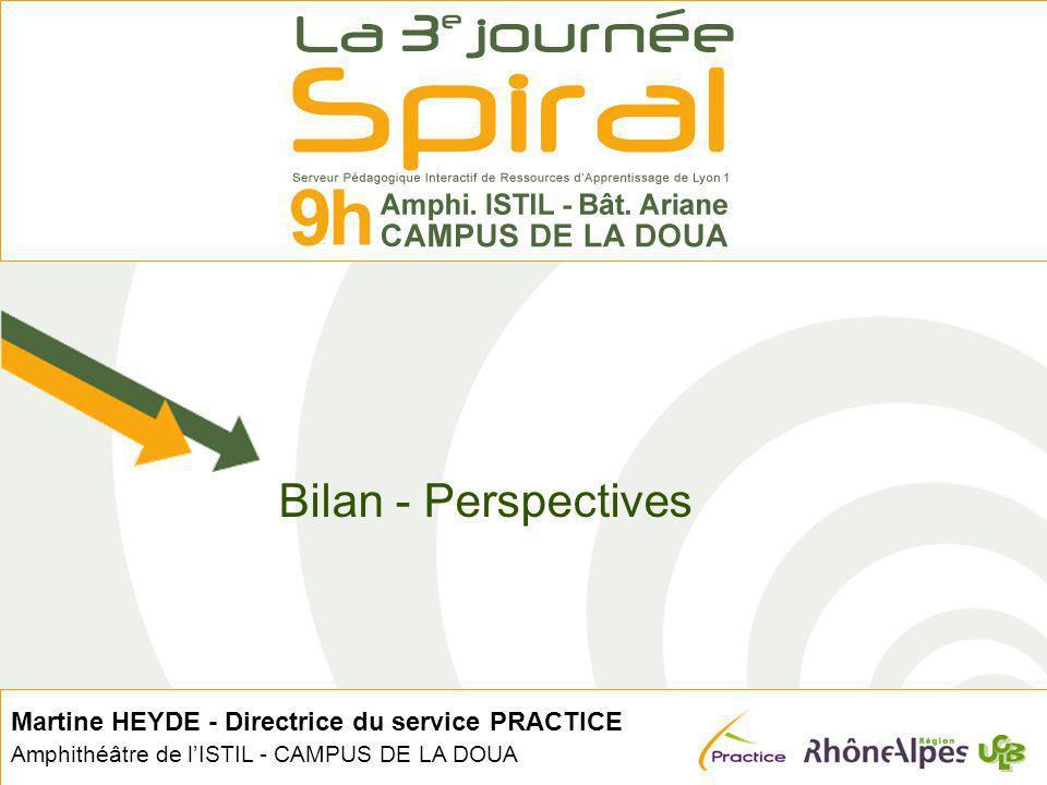 Bilan - Perspectives Martine HEYDE - Directrice du service PRACTICE