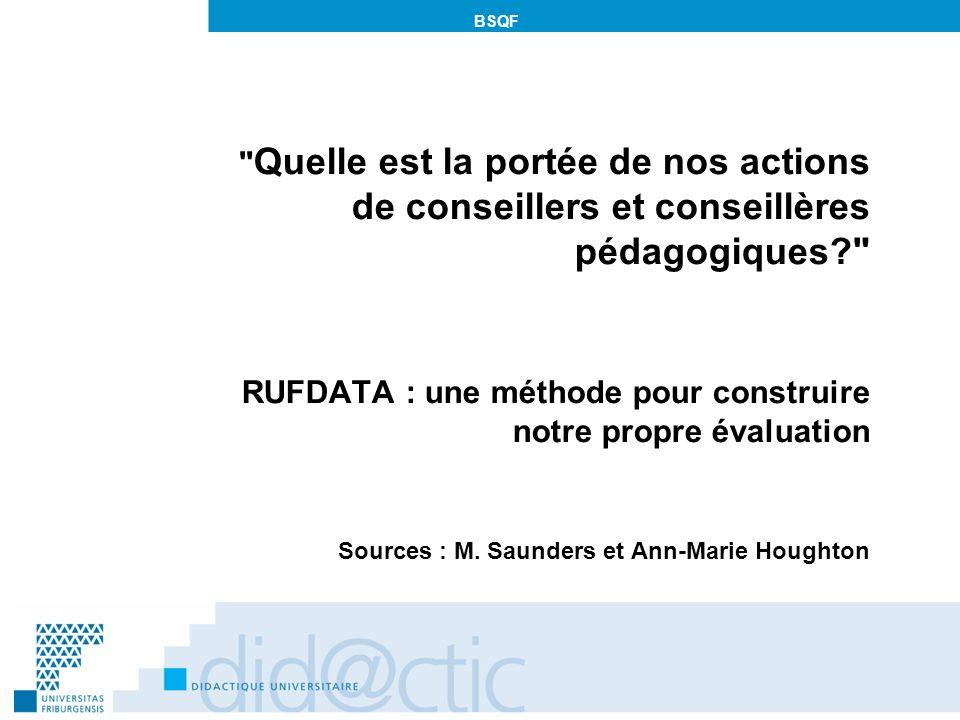 RUFDATA : une méthode pour construire notre propre évaluation