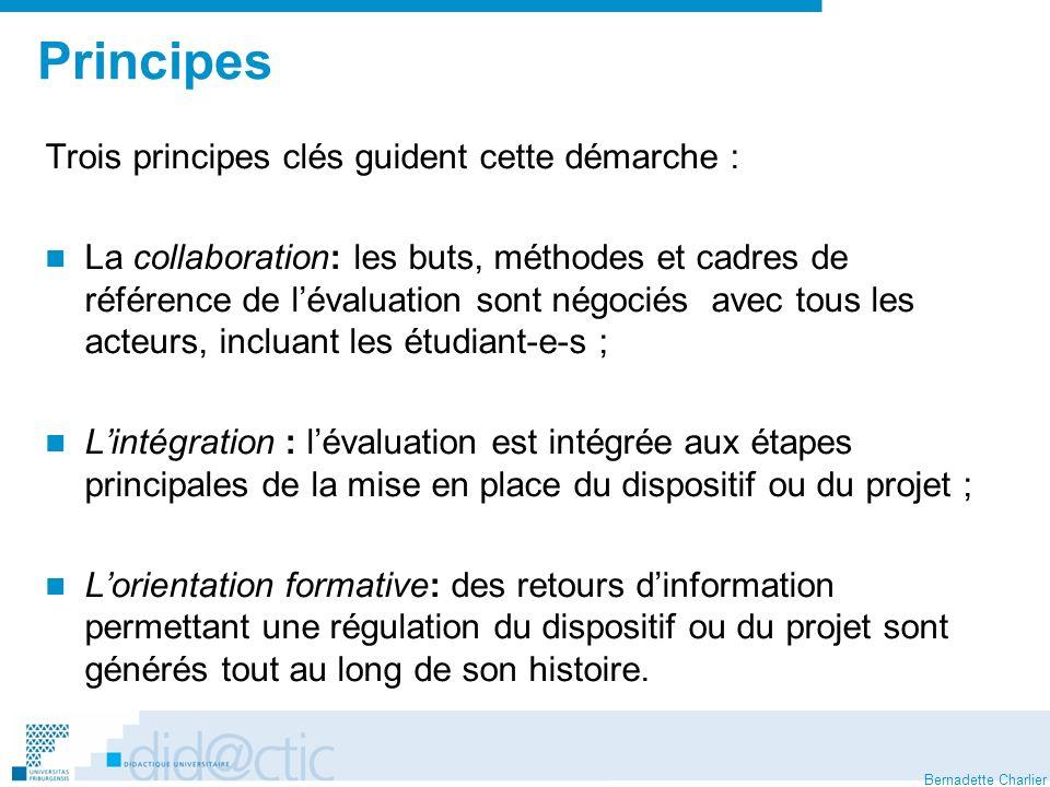 Principes Trois principes clés guident cette démarche :
