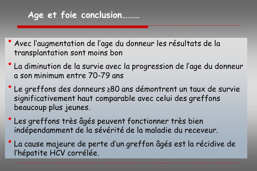 Age et foie conclusion………
