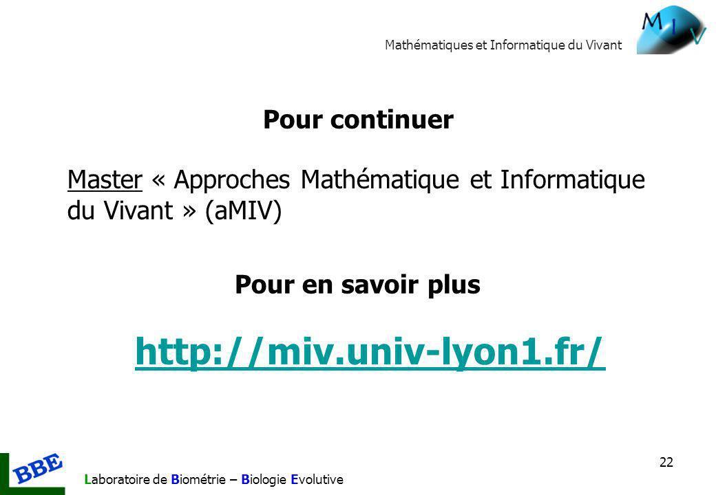 http://miv.univ-lyon1.fr/ Pour continuer
